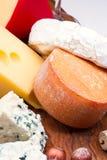 Käse mit Nüssen lizenzfreies stockbild