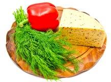 Käse mit Paprika lizenzfreie stockbilder