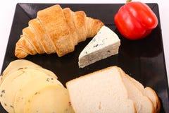 Käse mit Toast lizenzfreie stockfotografie