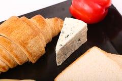 Käse mit Toast stockbild