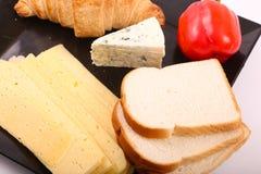 Käse mit Toast stockfotos