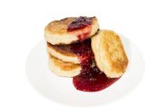 Käse-Pfannkuchen Lizenzfreies Stockbild
