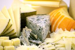 Käse-Platte Lizenzfreies Stockfoto