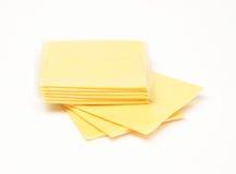 Käse-Scheiben Stockfotos