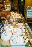 Käse am Stadt-Markt Stockfotografie