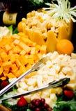 Käse-Tellersegment Stockfoto