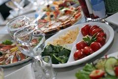 Käse, Tomaten, Gurke Lizenzfreie Stockbilder