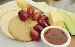 Käse und Biskuite lizenzfreies stockfoto