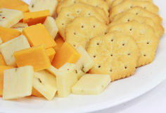 Käse und Cracker Stockfotos