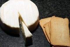 Käse und Cracker Lizenzfreie Stockfotos