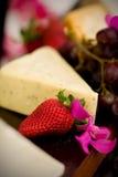 Käse und Cracker Stockfotografie