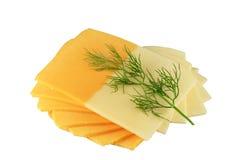 Käse und Petersilie Lizenzfreie Stockfotos