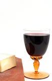 Käse und Rotwein Lizenzfreies Stockbild