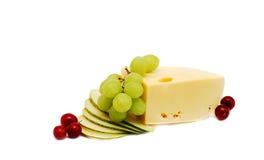 Käse und Traube Stockbild