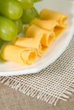 Käse und Traube Lizenzfreies Stockfoto