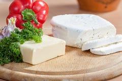 Käse und Veggies Lizenzfreies Stockfoto