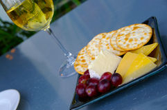 Käse und Wein Lizenzfreie Stockfotografie