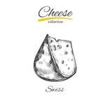 Käse Vektorhand gezeichnet stock abbildung