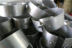 Käseformen in der modernen Molkereifabrik Lizenzfreie Stockfotografie