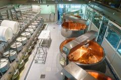 Käseherstellung Lizenzfreies Stockfoto