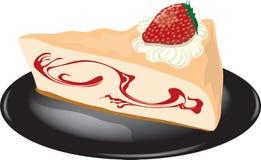 Käsekuchen auf einer Platte Stockbild