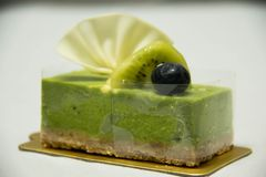 Käsekuchen des grünen Tees Traditionell, geschmackvoll stockfotografie