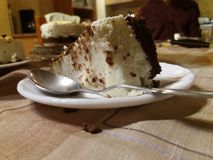 Käsekuchen mit Feinschmecker der Schokolade Stockfotografie