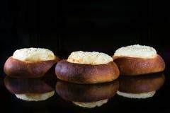 Käsekuchen mit Hüttenkäse Stockbild