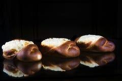 Käsekuchen mit Hüttenkäse Stockfotos
