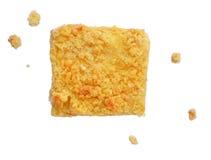Käsekuchen und Chips Stockfotos
