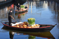 Käsemarkt in Alkmaar Lizenzfreie Stockfotos