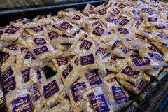 Käsereiprodukte auf Anzeige an der Tillamook-Käsefabrik lizenzfreies stockbild