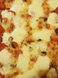 Käsige Pizza stockbilder