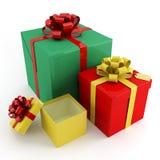 Kästen für Geschenke lizenzfreies stockbild