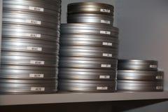 Kästen mit Film Lizenzfreies Stockbild
