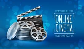 Kästen mit Filmbandscheiben und Direktornscharnierventil für Filmproduktion Lizenzfreies Stockfoto