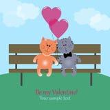 Kätzchen in der Liebe Stock Abbildung