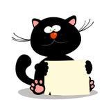 Kätzchen mit leerem Leerzeichen. Stockfotografie