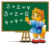 Kätzchen-Schulmädchen Lizenzfreies Stockfoto