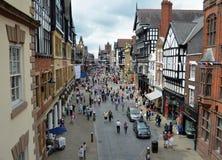 Käufer Chester Town Center Lizenzfreie Stockfotografie