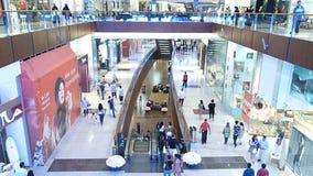 Käufer-Eile an Dubai-Mall stock footage