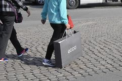 KÄUFER IN KOPENHAGEN Stockfotos