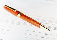 Käuferfeld. Das Unterzeichnungskonzept. Stockfoto
