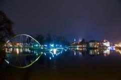 Kładka Słodowa Pedestrian Bridge, Wroclaw Stock Photography