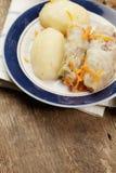 Kål rullar med potatisar Royaltyfri Foto