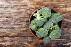 Kålbroccoli i en platta Royaltyfri Bild