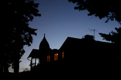 Kårhuset Boulogner Skovde, Sweden. Photo of this house, Kårhuset Boulogner in Skovde, Sweden. During summer it is a bar for students Stock Photo