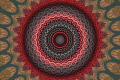 Kółkowe abstrakt menchie z szarość ornamentem Obrazy Royalty Free