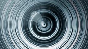 Kółkowe rozsądne fale Abstrakcjonistyczna animacja kurenda wykłada pulsować od centrum Zapętlająca animacja monochromatic ilustracja wektor