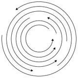 Kółkowe strzała - Przypadkowi koncentryczni okręgi z strzała dla twis ilustracji